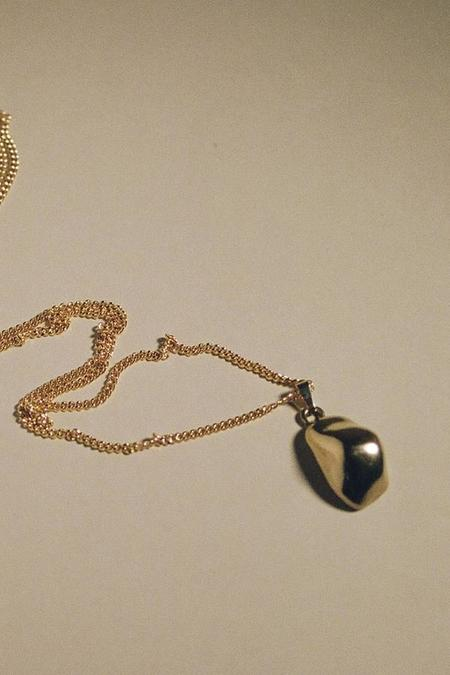 MARS Bump Necklace Gold - gold plated sterling silver
