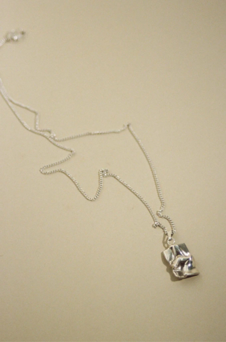 MARS Love Letter Necklace - Silver