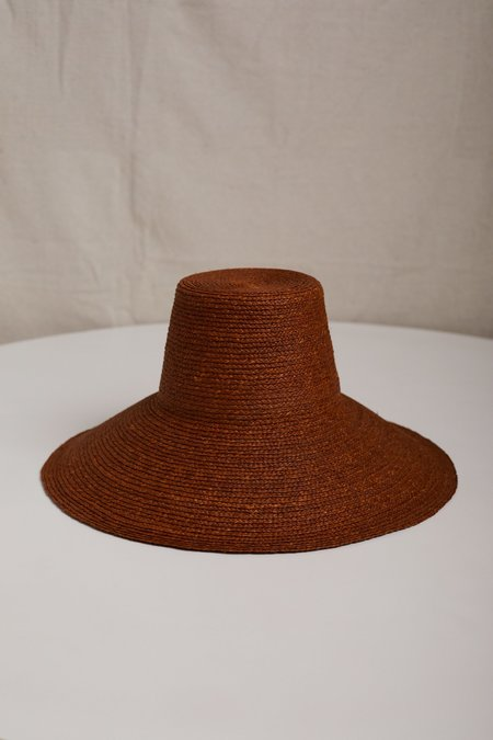JANESSA LEONE JANINE HAT - Chestnut