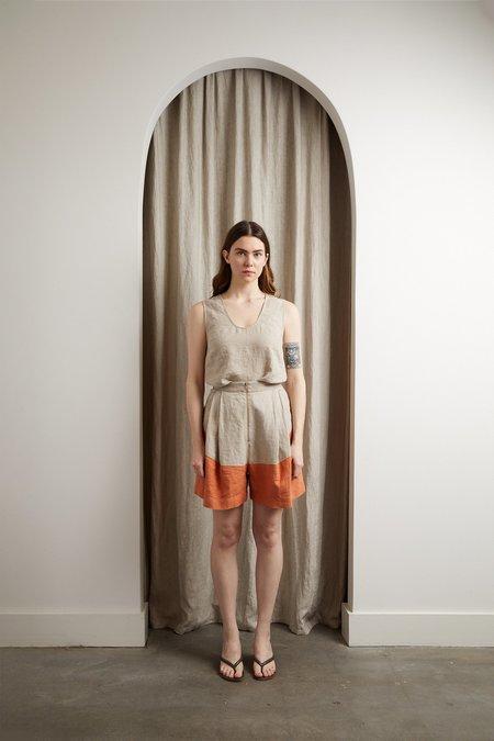 Rachel Comey Bandini Shorts - Natural/Cognac