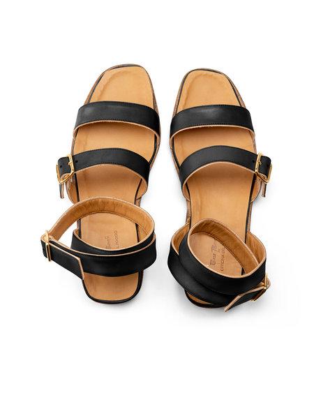 Officina del Poggio Essentials Amalfi Sandal - Black