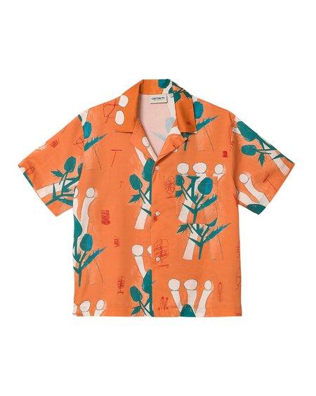 CARHARTT WIP SS W Tom Król Flowers Shirt - Shrimp