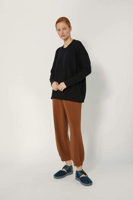 Oyuna Mara Wool Blend Pullover - Black