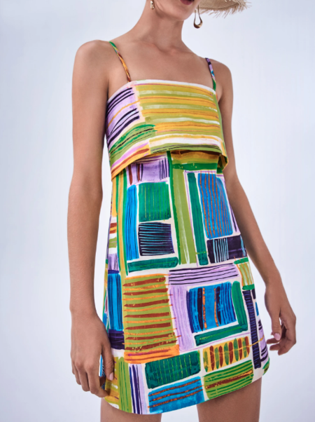 Alexis Daphne Dress - Vivid Abstract