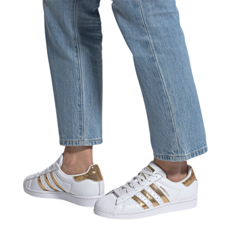 adidas Superstar G55658 Shoes - White/Gold