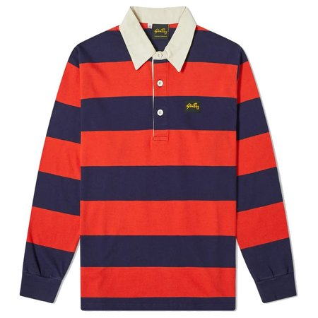Stan Ray RUGBY SHIRT - MIDNIGHT/RED