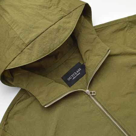 Outclass FISHTAIL WATER REPEL JACKET - OLIVE