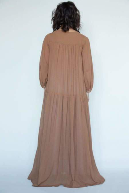 Christine Alcalay Teresa Cotton Chiffon Dress - Mist