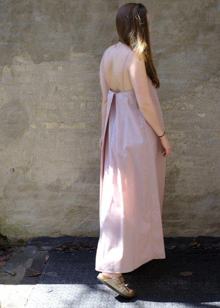 Christine Alcalay Jamie Pleated Picnic Dress - Lilac Stripe