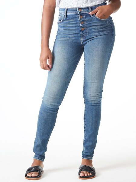 Mother Denim The Pixie Swooner Skimp Jeans - Leaps And Bounds