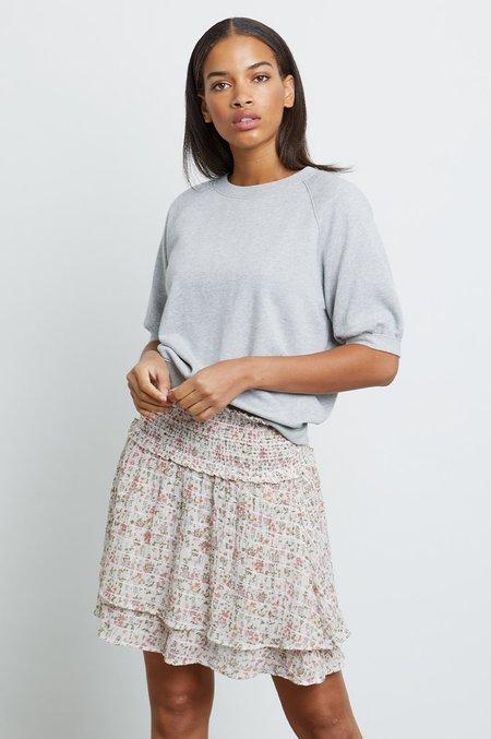 Rails Lia Short Sleeve Sweatshirt - Heather Grey
