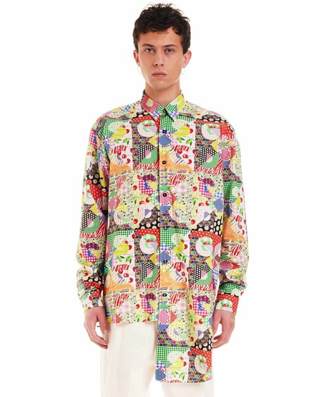 GCDS Asymmetrical Shirt - multi