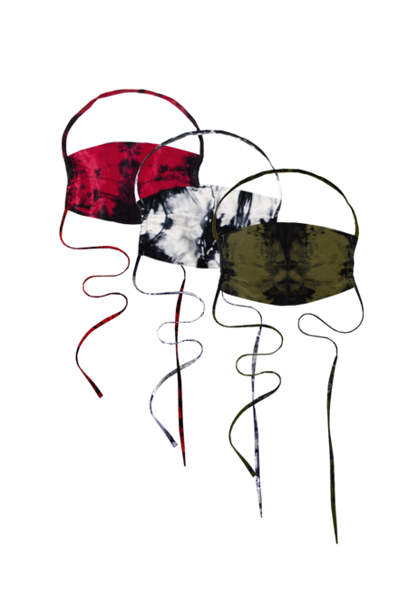 KES The Original Utilitarian Tie Dye Bundle  Face Covering - Military/Red/Nat TD