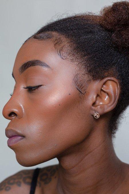 Xiao Wang Dot Dot Yin Yang Earring - Light Gray/Dark Gray Diamond