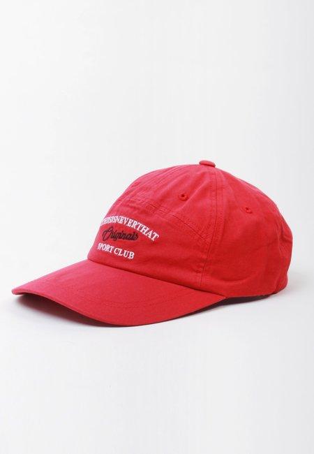 ThisIsNeverThat Sport Club 7 Panel Cap - red