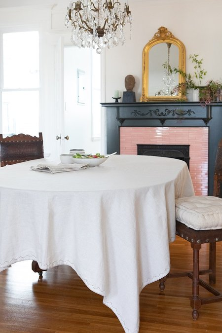 Erica Tanov tablecloth in hand-embroidered linen - natural
