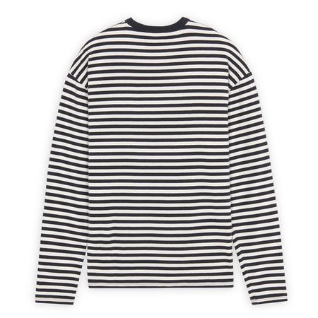 Maison Kitsuné Marin Regular Long-Sleeved Tee-Shirt - Dark Navy Stripe