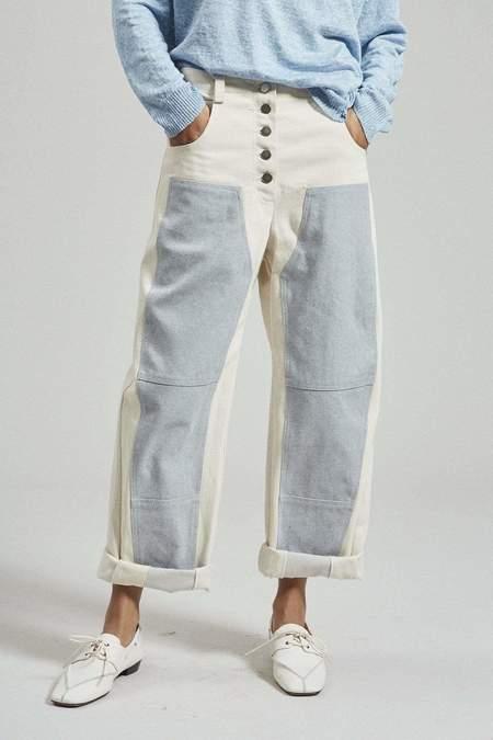 Rachel Comey Handy Pant - Natural/Faded Indigo