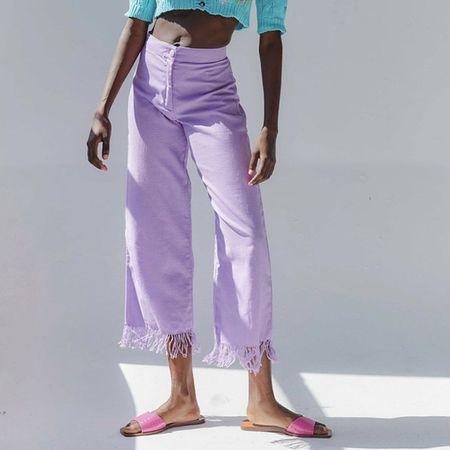 Tach Nicanor Linen Pants - Lilac