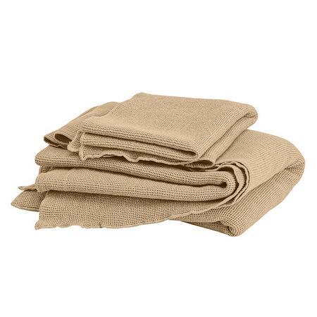 Kids Autumn Paris Small Honeycomb Towel Kit - Sand Beige
