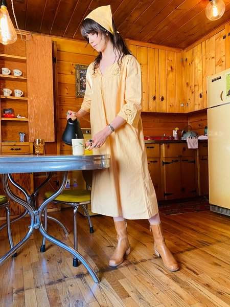 Vintage Keen Nightgown Dress - Peach