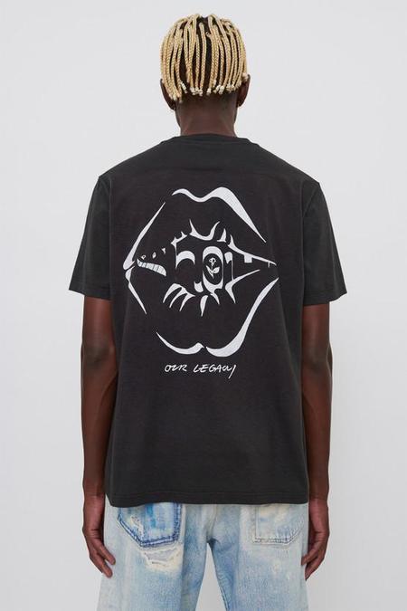 Our Legacy Box T-Shirt - Black Air Kiss Print
