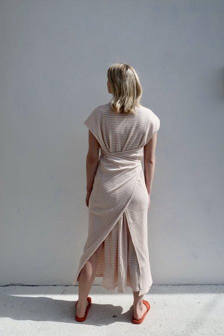 Shaw Kaftan Sleeveless Dress - Red/White Stripe