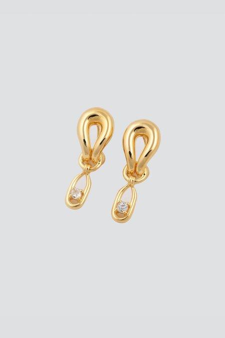 MM Druck Palomino II V Earrings - Gold Vermeil