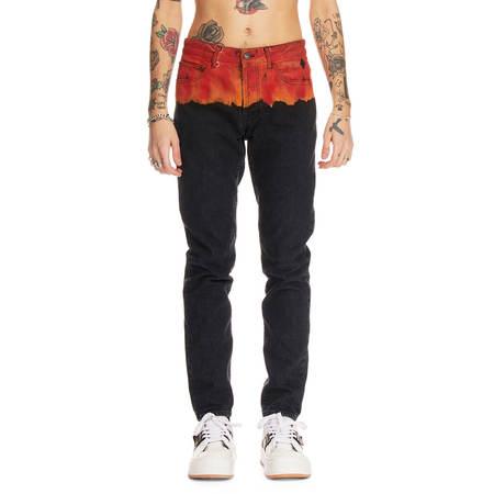 MARCELO BURLON Bleach Flames jeans - Black