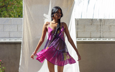 Abacaxi Tiered Mini Dress