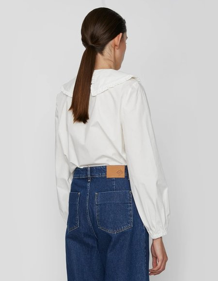 Just Female Ease Frill Shirt - Off White