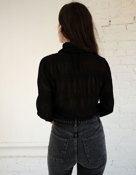Just Female Kifi Rollneck Blouse - Black