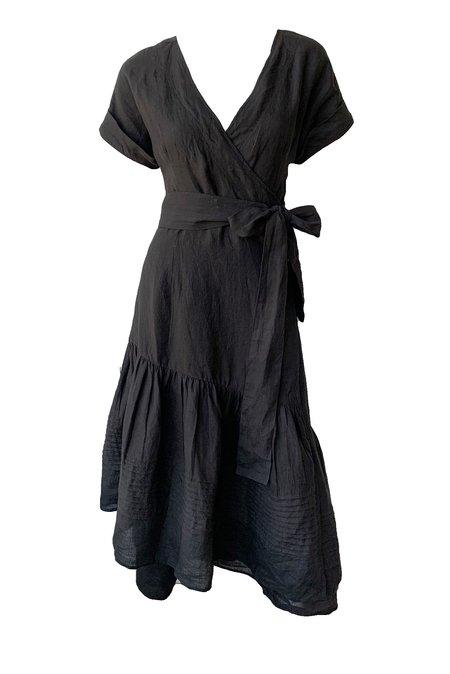 Apiece Apart Amaro Wrap Dress - black