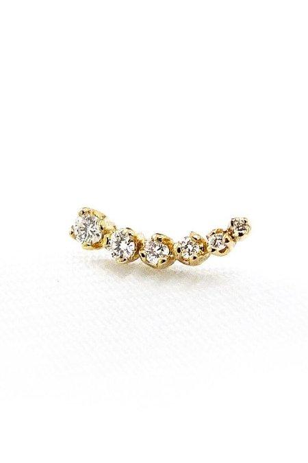n+a new york Shooting Star Earring - Gold/Diamond