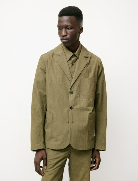 Frank Leder Cotton Linen  Seed Blazer - Olive