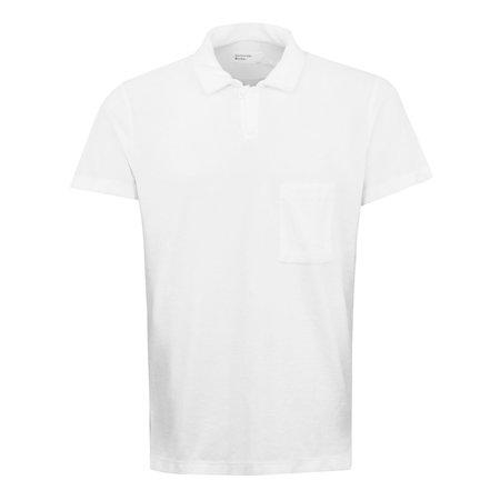 Universal Works Terry Fleece Polo Shirt - White