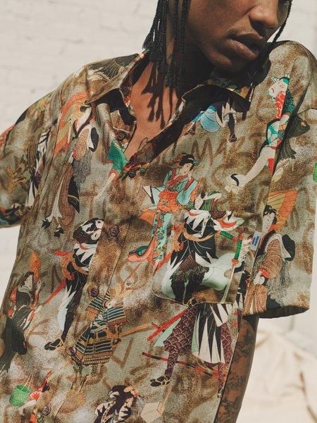 Martine Rose Duel Hawaiian Short Sleeve Shirt - Brown