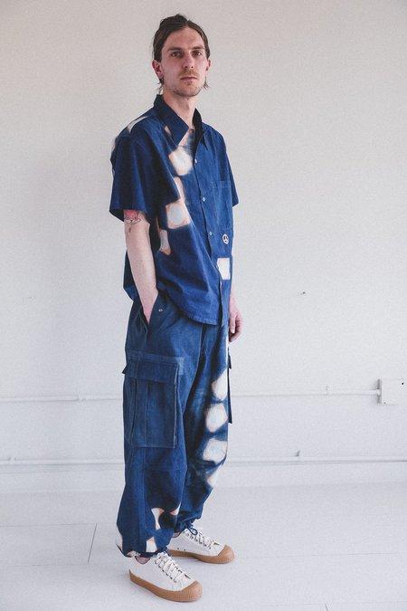 STORY mfg. Peace Pants - Indigo/Pink Lunar Clamp Dye