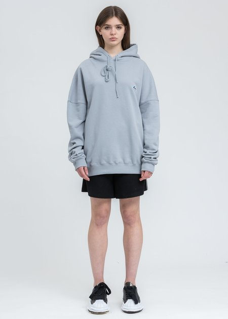 we11done WD Logo Embroidered Hoodie sweater - grey