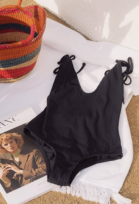 Static Swimwear Robertson Swimsuit - black