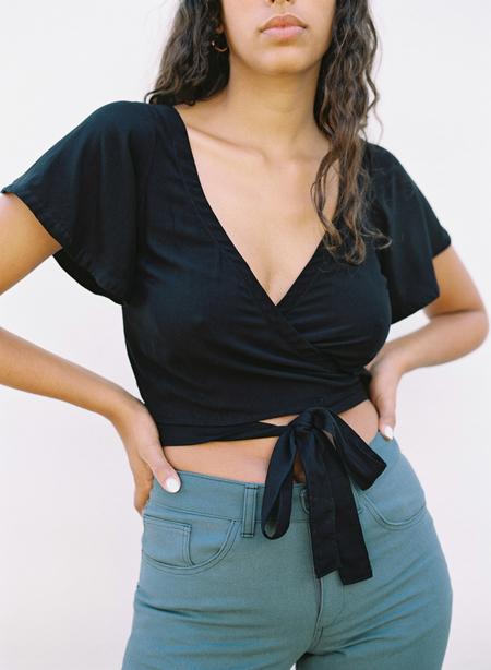 Aniela Parys Libra Wrap Top - black