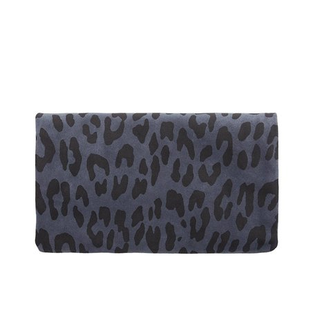 Clare V. Foldover Clutch with Tabs - Marine Pablo Cat Suede