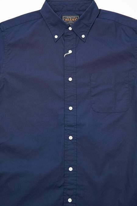 Beams Plus Short Sleeve B.D. Color Broad Shirt - Navy