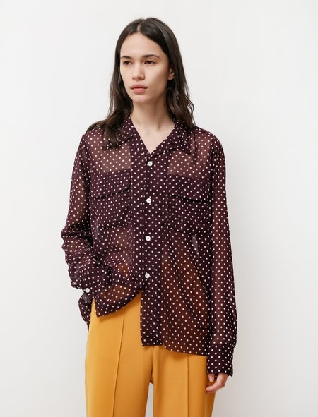 Needles Cut Off Polka Dot Shirt - Purple