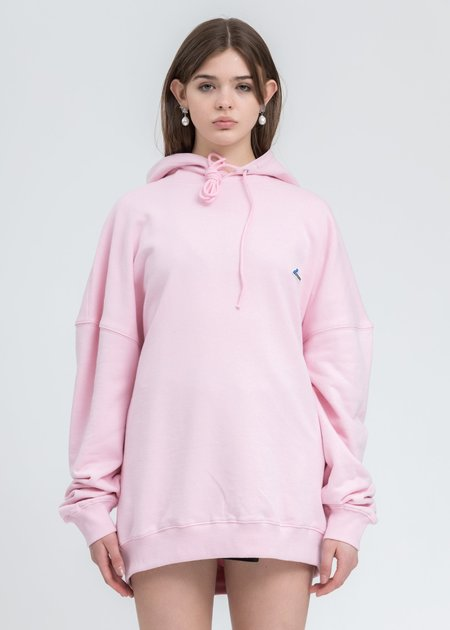 we11done Logo Embroidered Hoodie - Pink