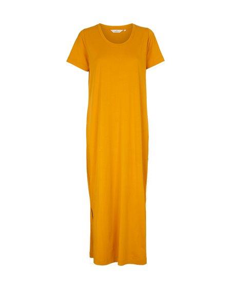 Basic Apparel Vestido Rebekka - Inca Gold