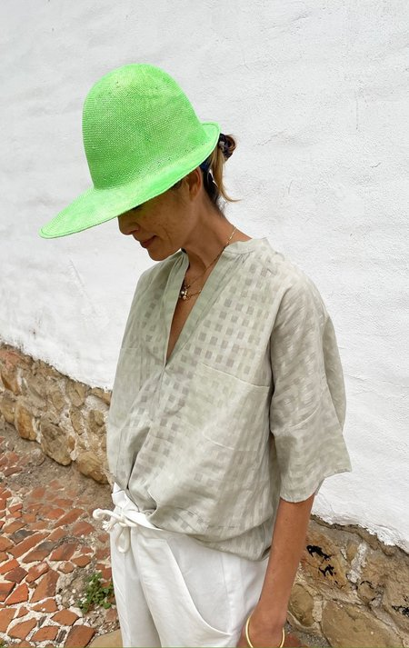 Two Pocket Shirt - Putty Grey Grid