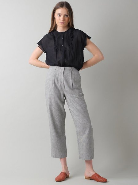 Indi & Cold Linen Trousers - Piedra
