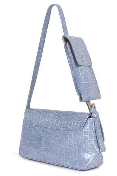 Paloma Wool Gustava Phone Pocket Flap Bag - Light Blue