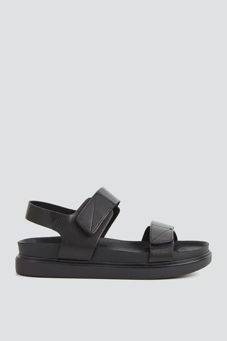 Vagabond Leather Strap Erin Sandal - Black